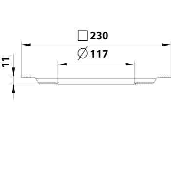 cross-sectionBlücher Compact membraanflens 620.300.025