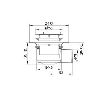 cross-sectionBlücher Domestic vloerput voor vinyl 210.300.075