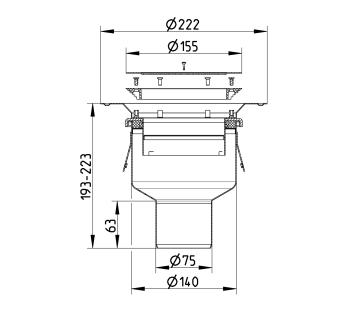 cross-sectionBlücher Domestic vloerput voor vinyl 250.300.075