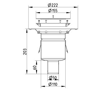 cross-sectionBlücher Domestic vloerput voor vinyl 260.300.050