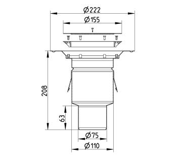 cross-sectionBlücher Domestic vloerput voor vinyl 260.300.075