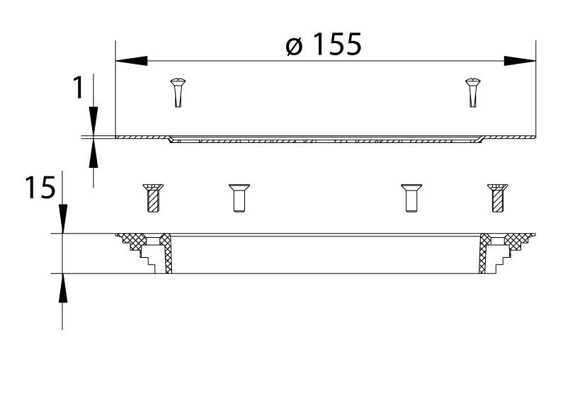cross-sectionRooster + klemring 620.300.002