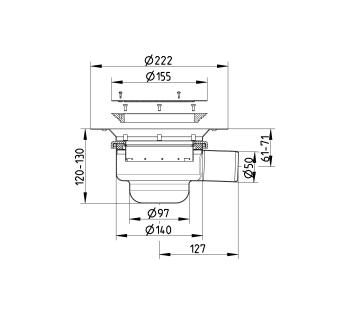 cross-sectionBlücher Domestic vloerput voor vinyl 214.300.050