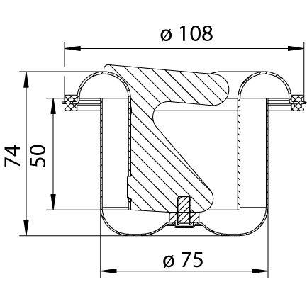 cross-sectionWaterslot (tweedelig) 506.050.110