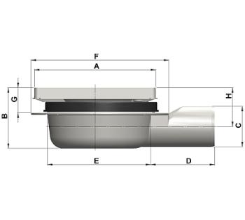 cross-sectionAquaberg vloerput 4116RS-316