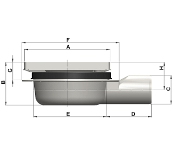 cross-sectionAquaberg vloerput 4216R-316