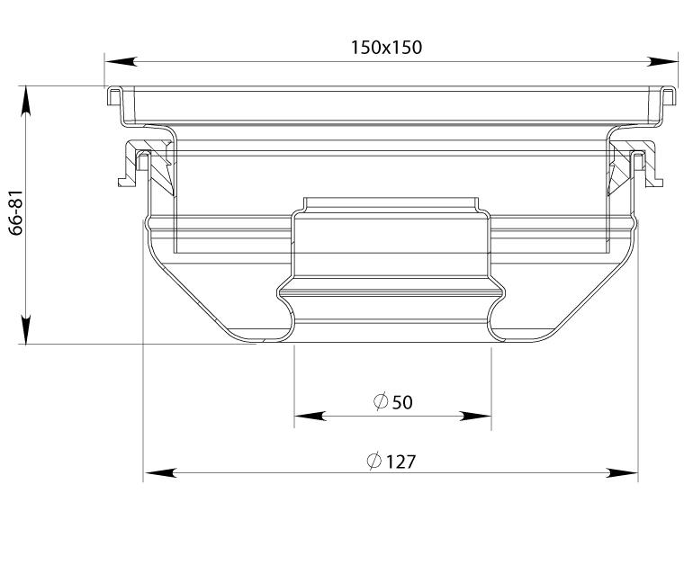 cross-sectionAquaberg vloerput 4815S
