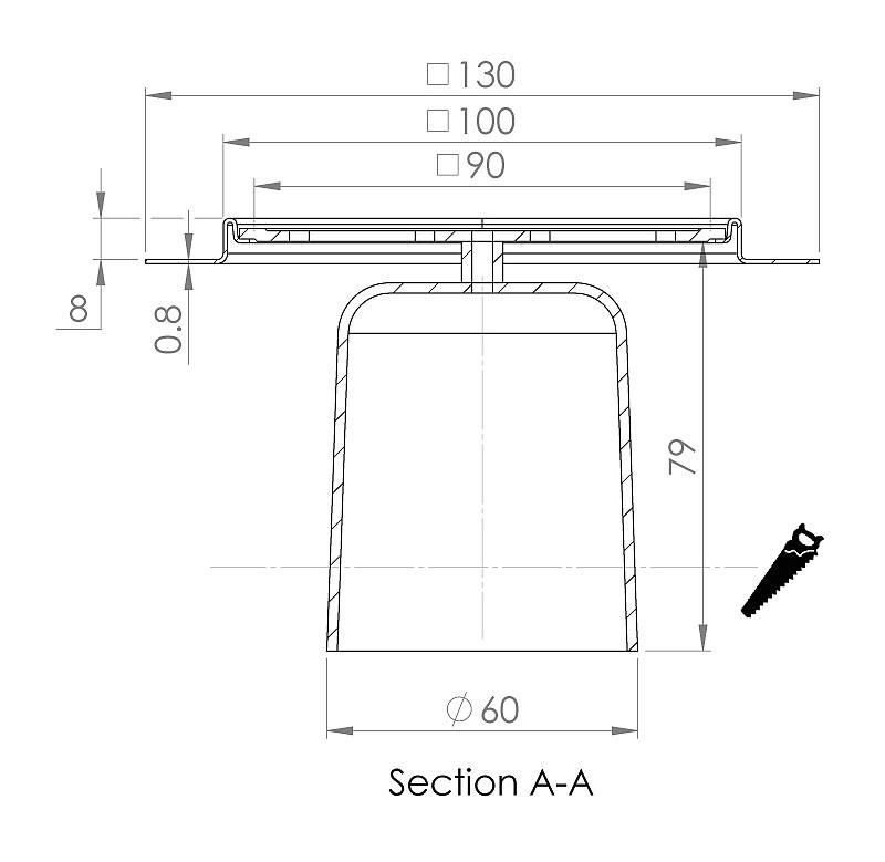 cross-sectionAquaberg renovatieput RP10/179