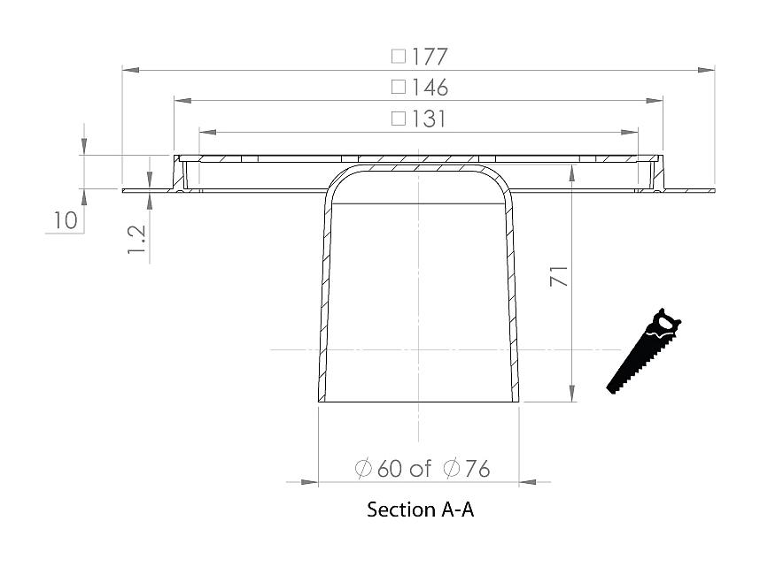 cross-sectionAquaberg renovatieput RP146K-10/179