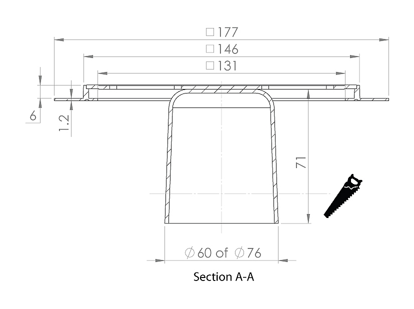 cross-sectionAquaberg renovatieput RP146K-6/179