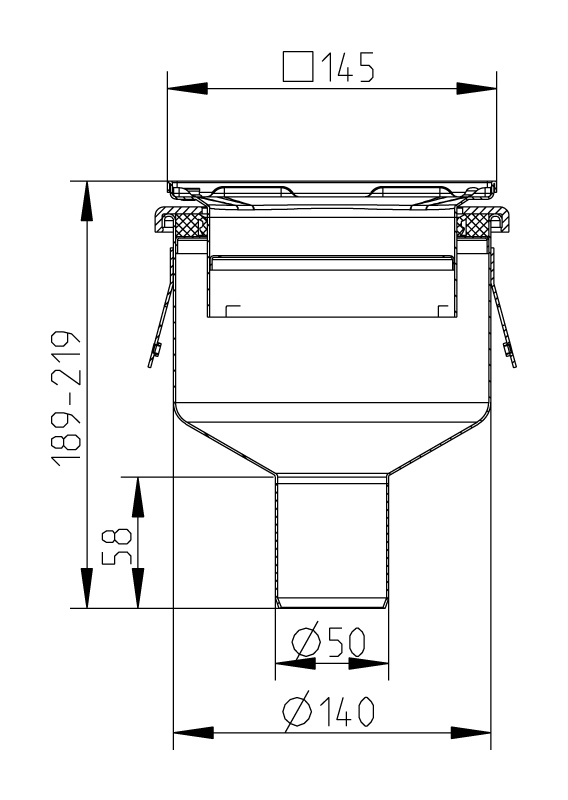 cross-sectionAquaberg Business Line vloerput 176997