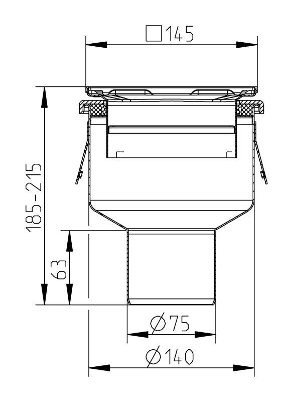cross-sectionAquaberg Business Line vloerput 176998