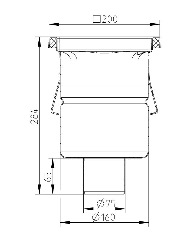 cross-sectionAquaberg Business Line vloerput 177003