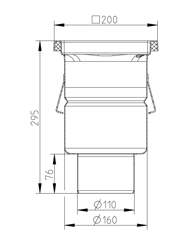 cross-sectionAquaberg Business Line vloerput 177006