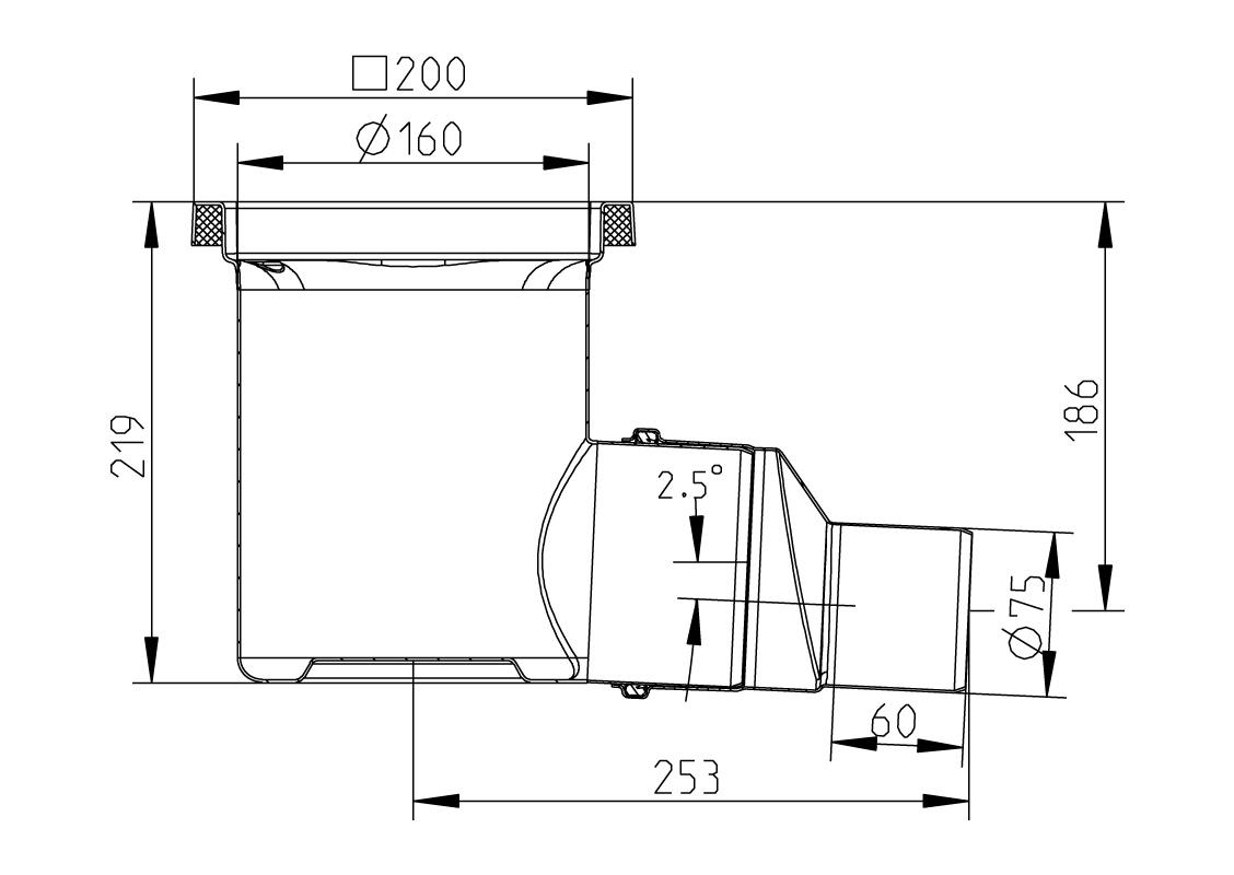 cross-sectionAquaberg Business Line vloerput 177011