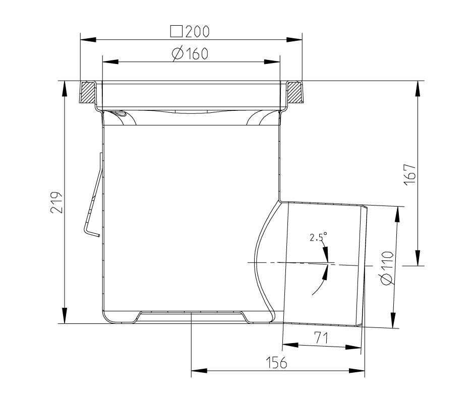 cross-sectionAquaberg Business Line vloerput 177016