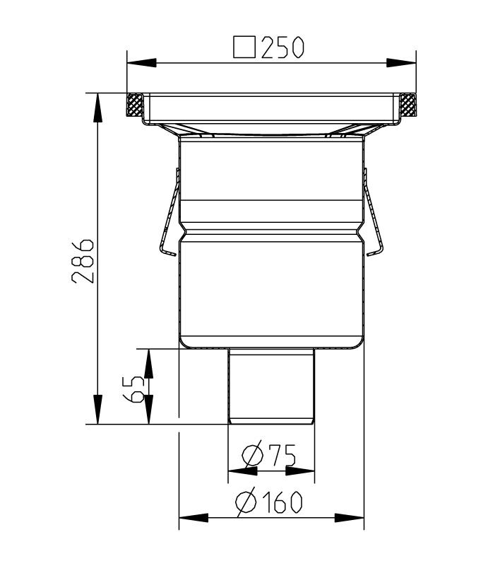 cross-sectionAquaberg Business Line vloerput 177017