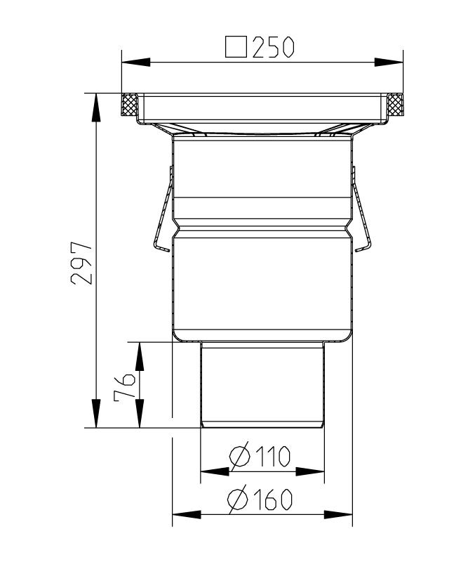 cross-sectionAquaberg Business Line vloerput 177021