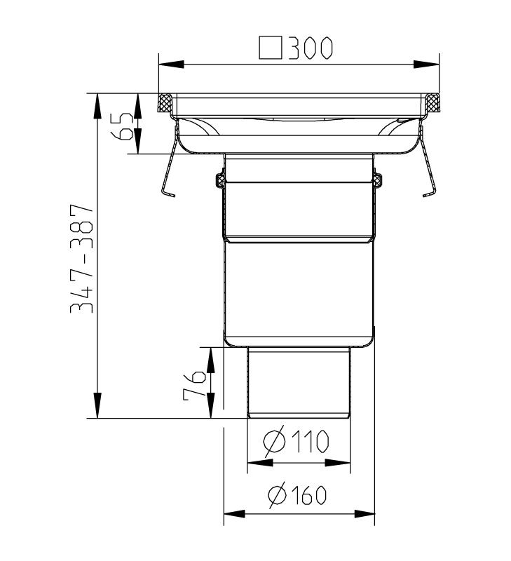 cross-sectionAquaberg Business Line vloerput 177030