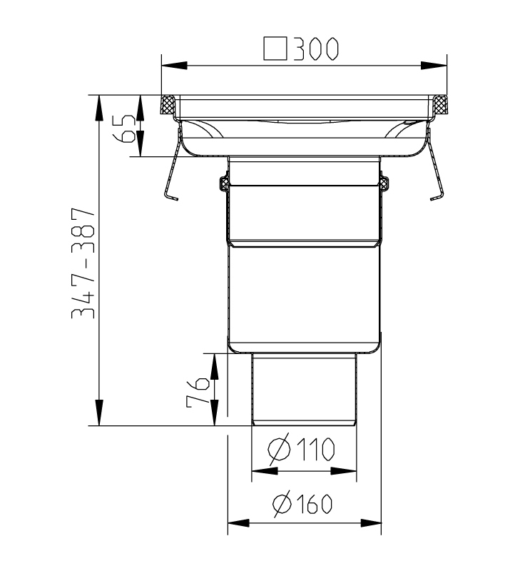 cross-sectionAquaberg Business Line vloerput 177031