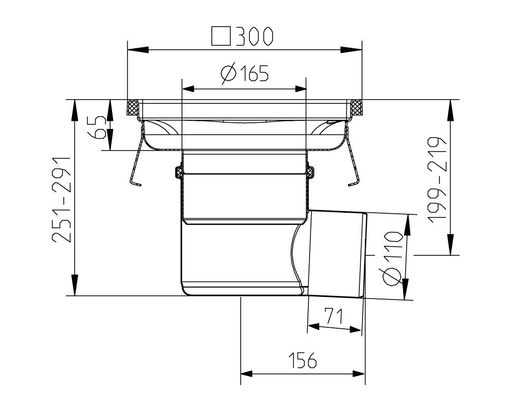 cross-sectionAquaberg Business Line vloerput 177032