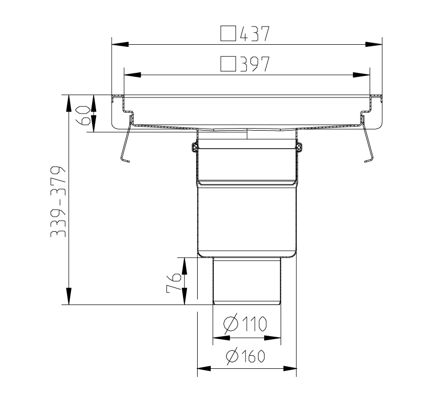 cross-sectionAquaberg Business Line vloerput 177035