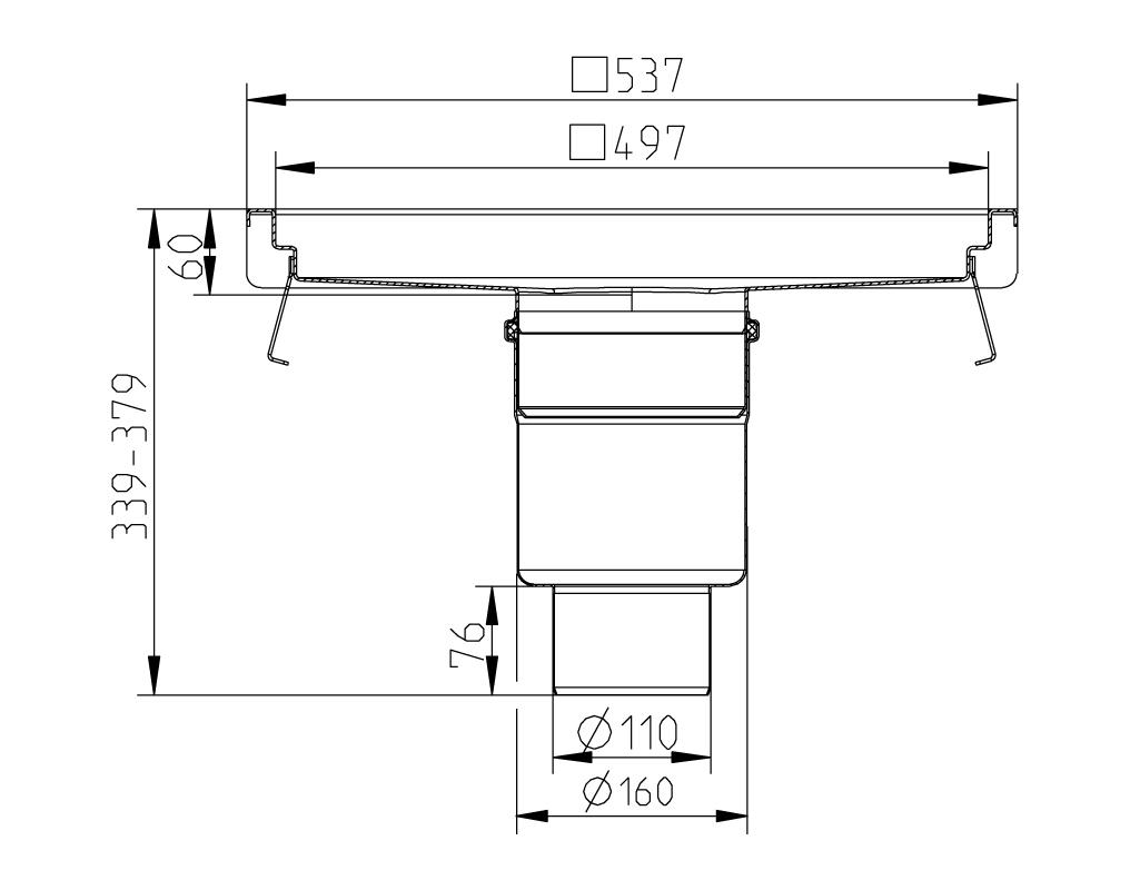 cross-sectionAquaberg Business Line keukengoot 177037