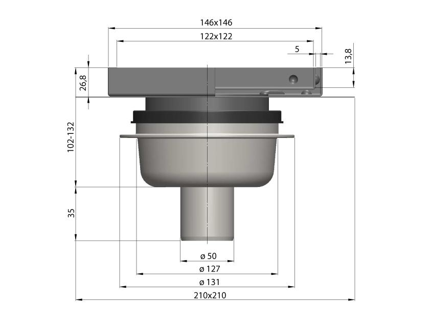 cross-sectionAquaberg tegelput 451515