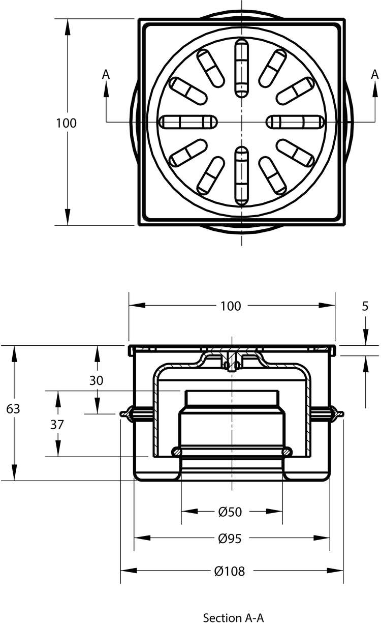 cross-sectionAquaberg vloerput 4410