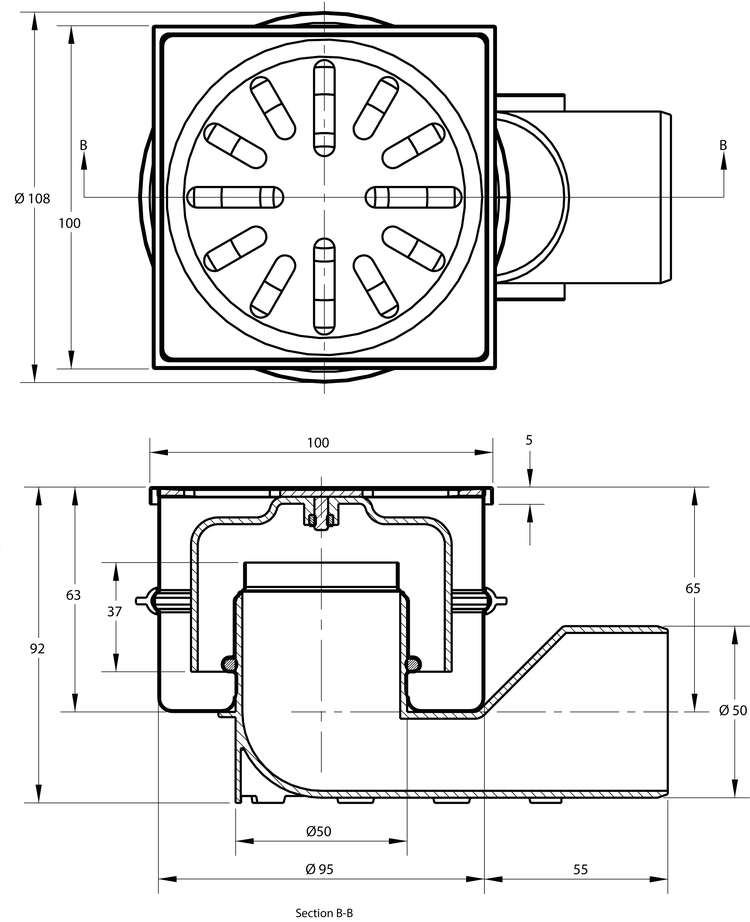 cross-sectionAquaberg vloerput 4450