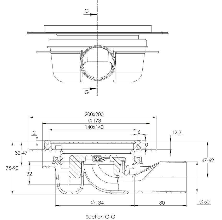 cross-sectionAquaberg vloerput 2030
