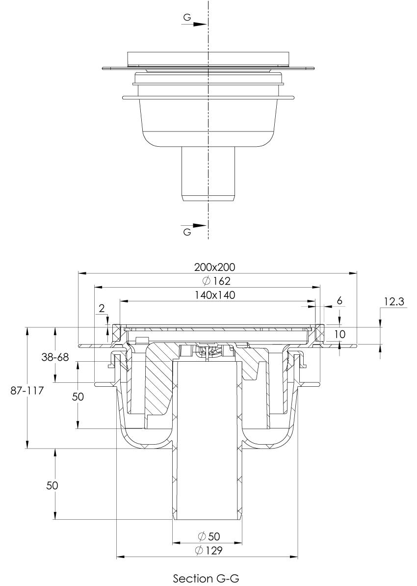 cross-sectionAquaberg vloerput 2034